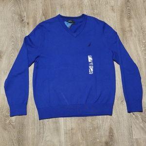 Nautica v-neck Navtech sweater, blue
